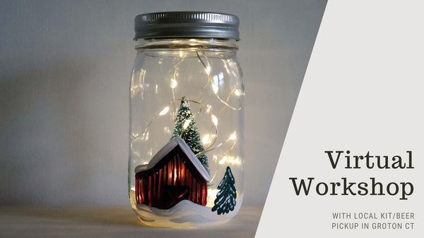 Virtual Workshop with *LOCAL PICKUP* at Outer Light Brewing Co. in Groton CT | Winter Solar Lantern | 12.9.20 @ 7PM