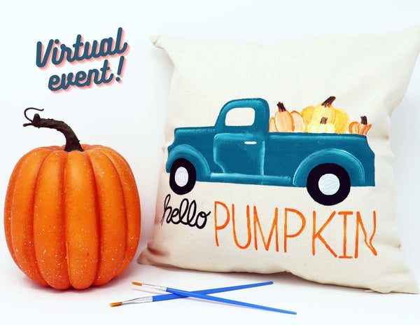 *VIRTUAL* Art Workshop | hello PUMPKIN Fall Pillow | 10.6.20 @ 7 PM