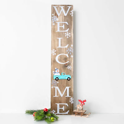 "Priscilla's Private Party | WELCOME 36"" Winter Pallet Sign 