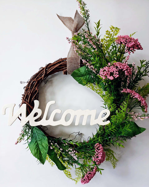 "Virtual Art Workshop | Spring ""Welcome"" Wreath 