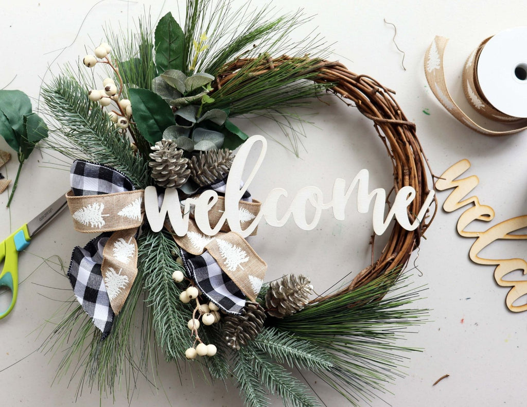 "Erin's Private Party | ""Welcome"" Wreath 