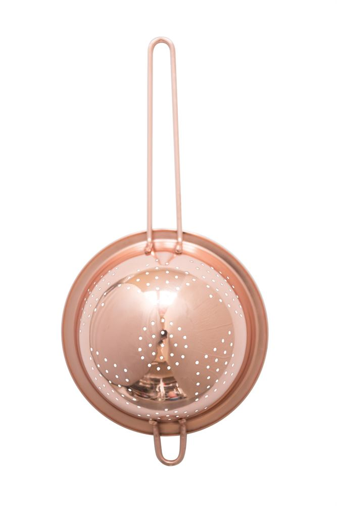 Stainless Steel Strainer w/ Copper Finish
