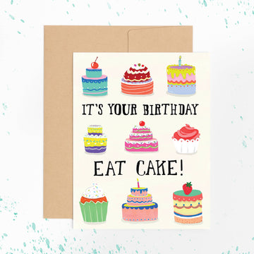 Birthday Cakes Card