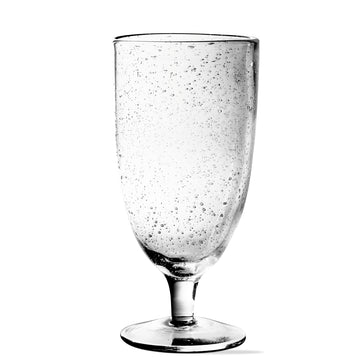 Tall Bubble Glass Goblet