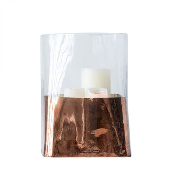 Glass & Copper Candle Holder