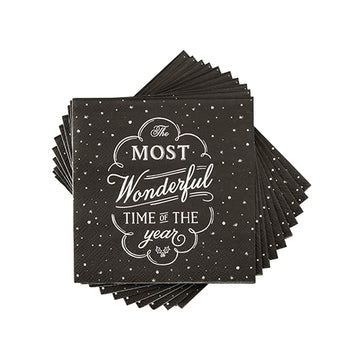 Black Chalkboard Christmas Napkins by Cakewalk