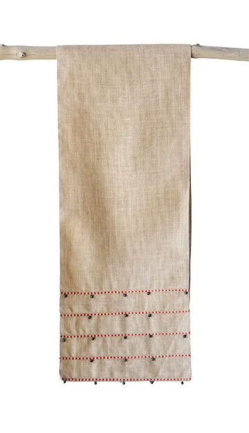 Cotton Blend Table Runner with Jingle Bells