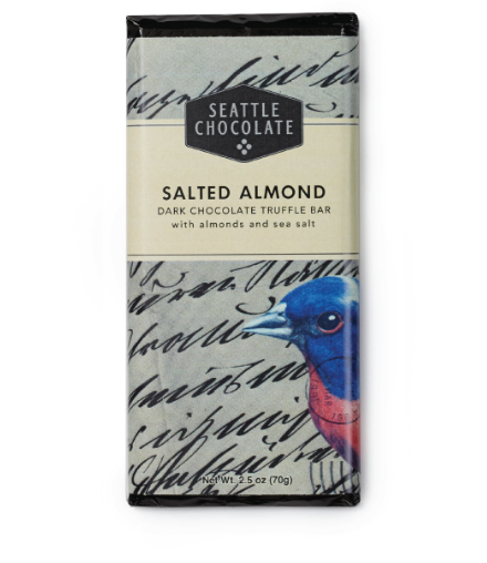 Salted Almond Dark Chocolate Truffle Bar