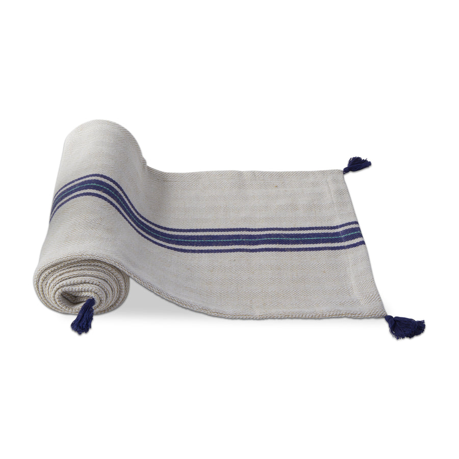Water's Edge Herringbone Stripe Table Runner