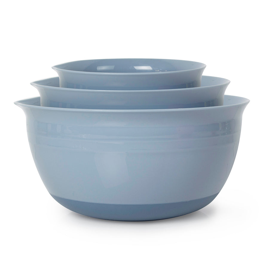 Nonslip Mixing Bowl Set (Set of 3, Blue) by Totally Sweet Products