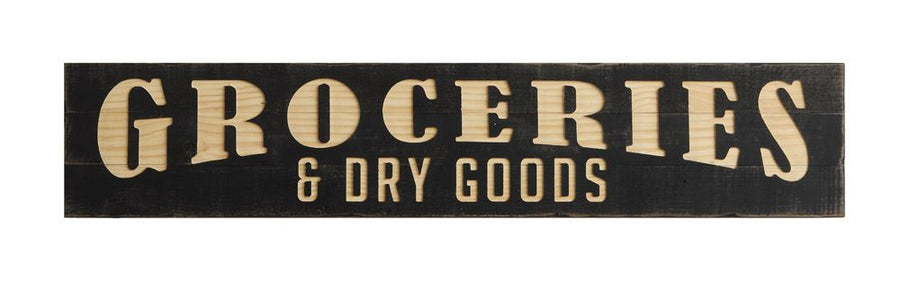 Groceries Dry Goods Wooden Sign Locavore Culinary Boutique