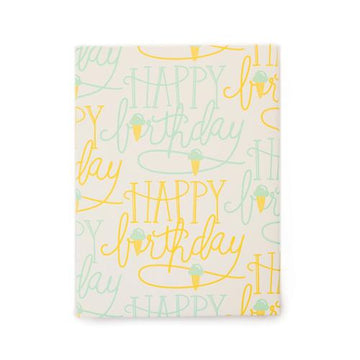 Birthday Cones Gift Wrap (Roll)