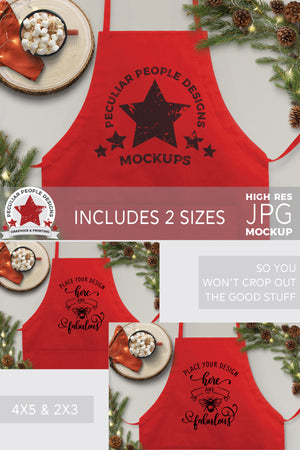 Load image into Gallery viewer, the apron mockup shown in the two included sizes, 4:5 and 2:3