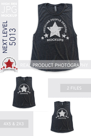 Load image into Gallery viewer, the muscle tank top mockup shown in the two included aspect ratios; 4:5 and 2:3