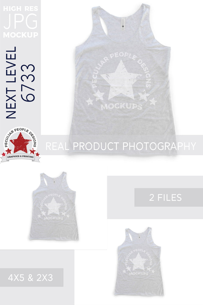 Load image into Gallery viewer, the NL 6733 tank top mockup shown in the two included aspect ratios; 4:5 and 2:3