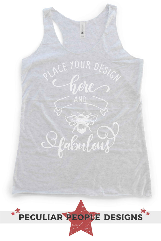 "Load image into Gallery viewer, NL 6733 flat lay with logo reading ""place your design here and bee fabulous"""