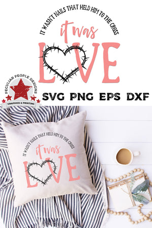 Load image into Gallery viewer, it was love svg shown on a white pillow in a cute, Southern, girly scene
