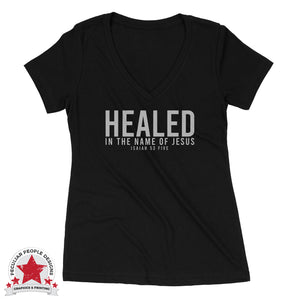 Healed - Ideal V Neck - Christian Shirt For Women