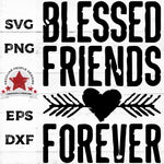 Blessed-Friends-Forever rustic heart-SVG by peculiar-people-designs