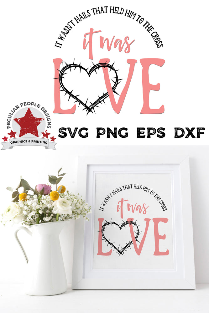 Load image into Gallery viewer, it was love svg file shown as a print in a frame with a boquet of flowers