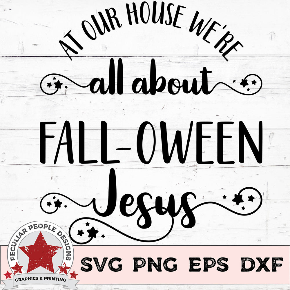All About FALLOWEEN Jesus - SVG PNG EPS DXF - morning-star-designs