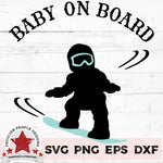 baby on snowboard svg by peculiar people designs