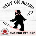 Baby on Board - Snowboarding Girl svg by peculiar people designs
