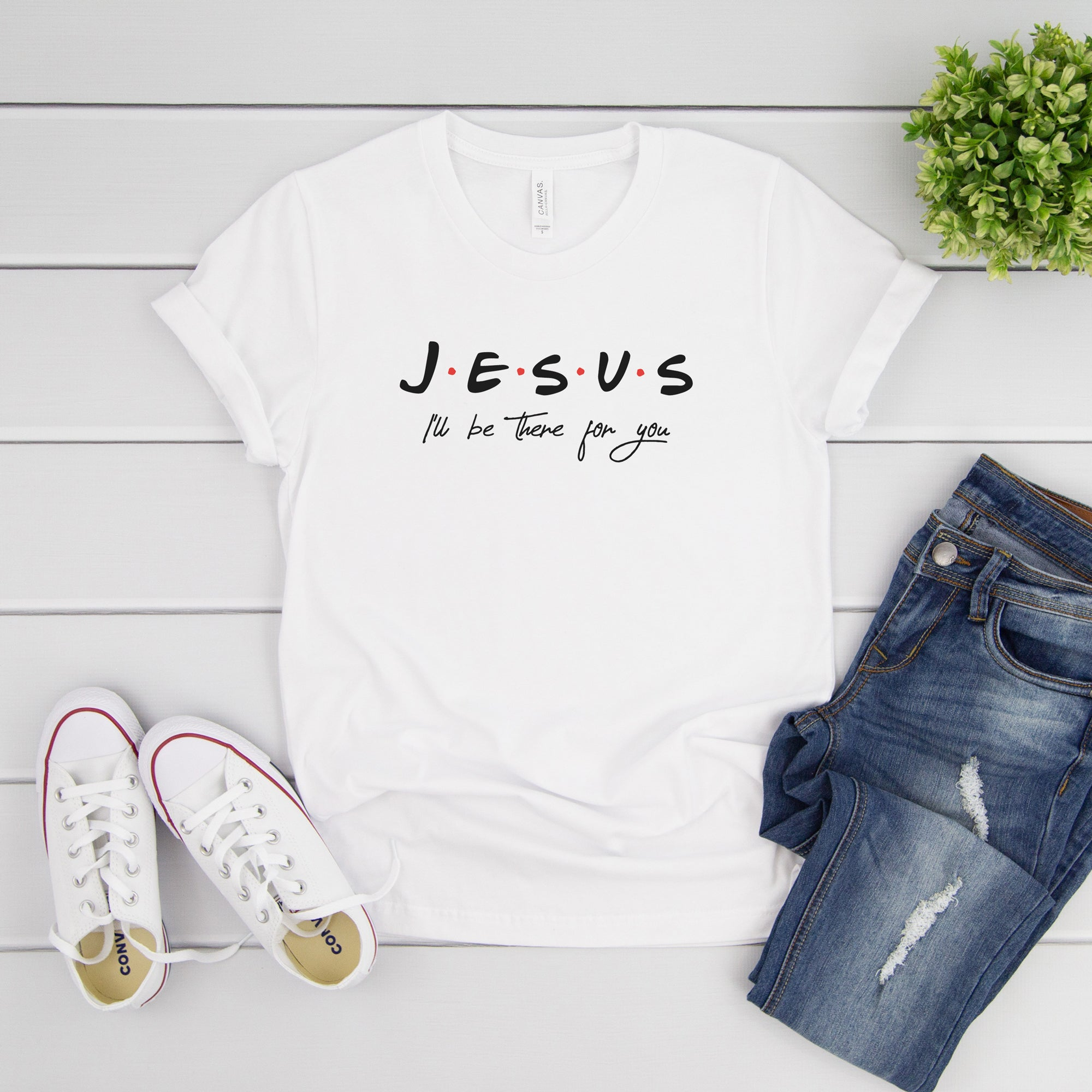 Graphic t-shirt lifestyle flatlay - Peculiar People Designs