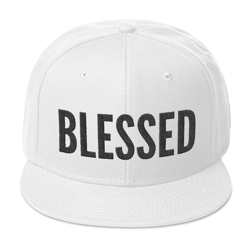 Blessed Trucker Hat in White- Peculiar People Designs