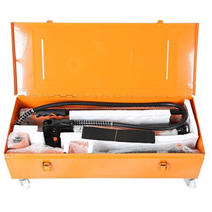 Goplus 20 Ton Hydraulic Jack Air Pump Lift Porta Power Ram Repair Tool Kit Set W/Case