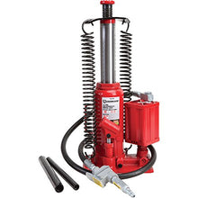 Strongway Air/Hydraulic Bottle Jack - 12-Ton Capacity, 10 7/16in.-20 1/16in. Lift Range