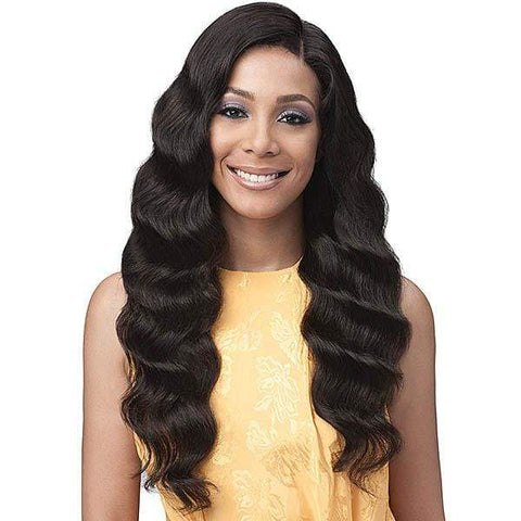 Bobbi Boss 100% Human Hair Lace Wigs NATURAL Bobbi Boss 100% Unprocessed Brazilian Virgin Remy Bundle Hair Full Lace Wig - BNGLWOC28 OCEAN WAVE 28""
