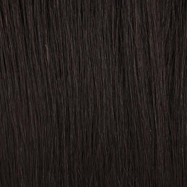 Bobbi Boss Frontal Lace Wigs 1B Bobbi Boss Human Hair Blend 4X4 Swiss Lace Front Wig - MBLF120 KIANA