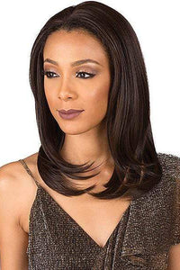 Bobbi Boss Human Hair Blend Lace Wigs 1 Bobbi Boss Designer Mix Human Hair Blend Full Hand-Tied Lace Front Wig - MBDLF001 SABRINA
