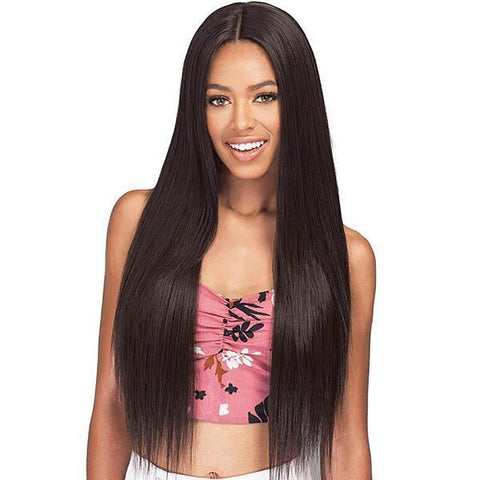 Bobbi Boss Human Hair Blended (Multi Pack) 1 Bobbi Boss Miss Origin Designer Mix 12A Weave Bundle - NATURAL STRAIGHT 3PC + Free Closure