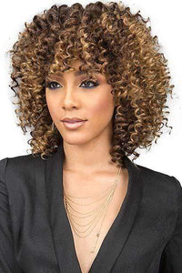 Bobbi Boss Human Hair Blended (Multi Pack) 1 Bobbi Boss Miss Origin Designer Mix Human Hair Blend Short Weave - DEEP WAVE 3PC + Free Closure