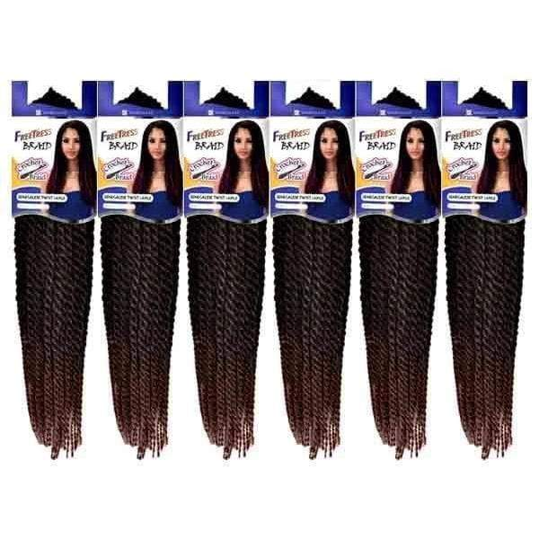 Freetress Senegalese Twist Braid [6 pack deal] Freetress KSETL Crochet SENEGALESE TWIST LARGE