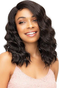 Janet Collection Deep Part Wigs 1 Janet Collection Synthetic Extended Deep Part Lace Wig - ELLA