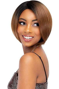 Janet Collection Deep Part Wigs 1 Janet Collection Synthetic Extended Deep Part Lace Wig - EVA
