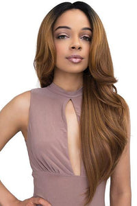 Janet Collection Deep Part Wigs 1 Janet Collection Synthetic Extended Part Lace Extremely Deep Part Lace Wig - JUNE