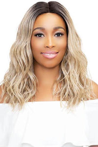 Janet Collection Deep Part Wigs 1 Janet Collection Synthetic Extended Part Lace Extremely Deep Part Lace Wig - LEONA