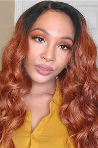 Janet Collection Frontal Lace Wigs Janet Collection Princess Human Hair Blend 4x4 Lace Front Wig - CHELSEA