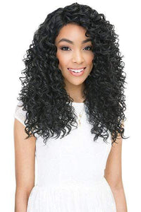 Janet Collection Human Hair Blend Lace Wigs 1 Janet Collection Scent Lace Front Wig - RAIN