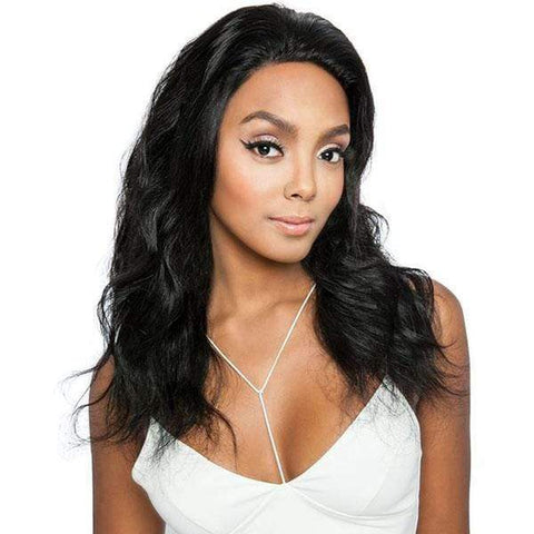 "Mane Concept Free Part Lace Wigs Natural Black Mane Concept Trill Free Part 100% Brazilian Virgin Remy Wig - TRL4220 WHOLE LACE BODY WAVE 18""~20"""