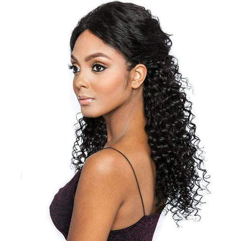 Mane Concept Frontal Lace Wigs Natural Black Mane Concept Trill 13x4 Frontal Lace 100% Brazilian Virgin Remy Wig - TRF2224 LOOSE DEEP 24""