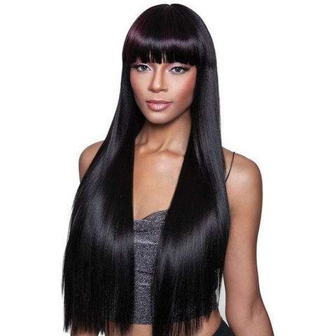 Mane Concept Human Hair Blend Wigs 1 Mane Concept Isis Brown Sugar Human Hair Blend Full Wig - BS144