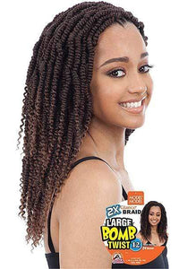 Model Model Crochet Braid Model Model Synthetic Glance Braids - 2X Large Bomb Twist 12""
