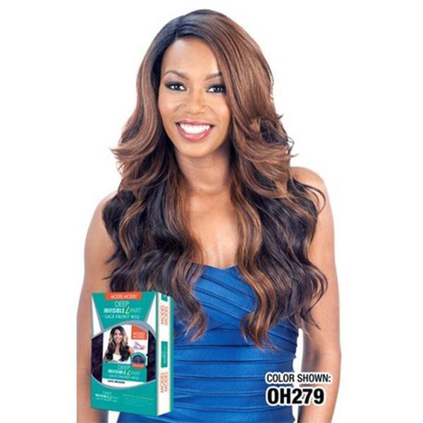 Model Model Deep Part Lace Wigs 1 Model Model Deep Invisible L Part Lace Wig - LELAM Alpine Medow