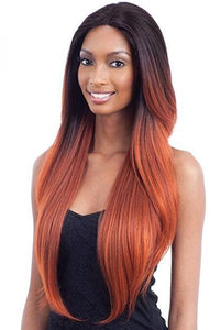 Model Model Deep Part Lace Wigs 1 Model Model Synthetic Hair Premium Seven Star V Shaped Lace Front Wig - EV 003