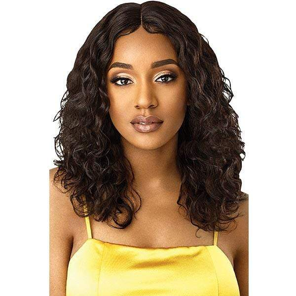 Outre 100% Human Hair Lace Wigs NATURAL BLACK Outre Mytresses Gold Label 100% Unprocessed Human Hair Lace Front Wig - NATURAL CURLY 20-22""